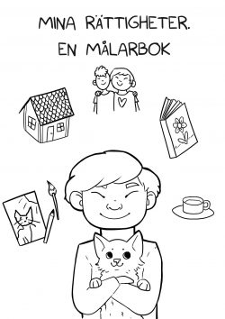 omslaget till mina rättigheter - en målarbok
