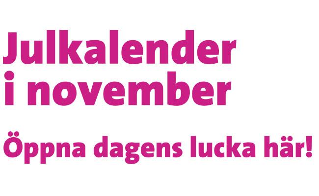 Öppna dagens lucka i novemberkalendern
